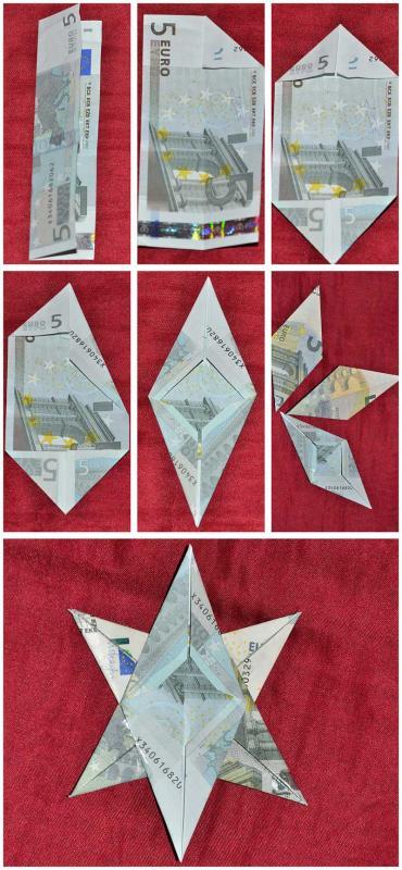Geldgeschenke Basteln Für Weihnachten Engel Stern Und