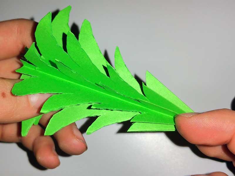 3d tannenbaum aus papier selber basteln. Black Bedroom Furniture Sets. Home Design Ideas