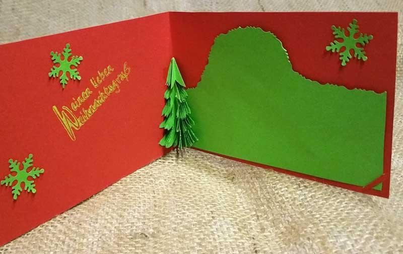 ... Pop-Up-Karte mit Tannenbaum für Weihnachten selber basteln -- Bild 3