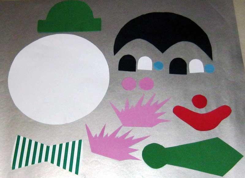 bastelvorlage clown aus tonpapier selber basteln. Black Bedroom Furniture Sets. Home Design Ideas
