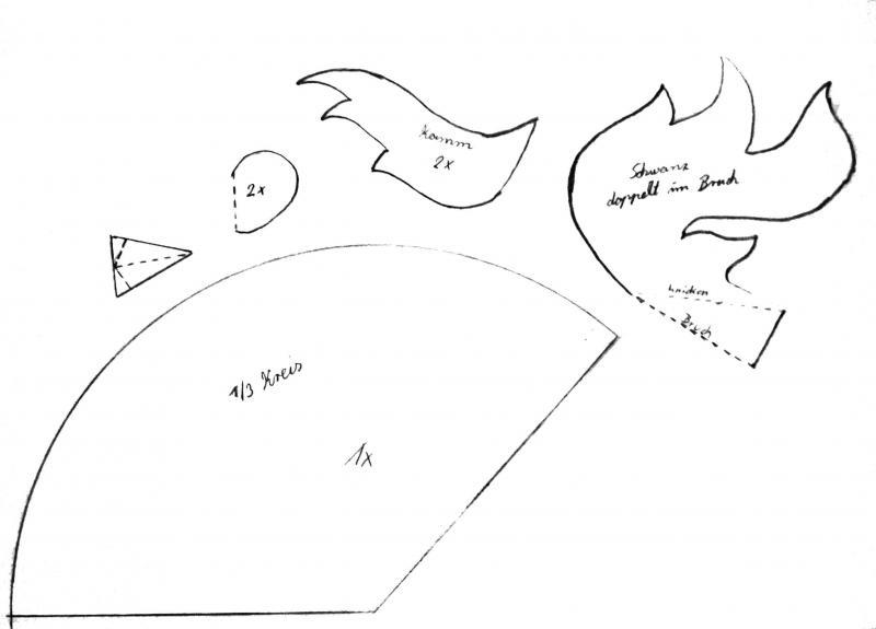 bastelvorlagen ostern hahn aus tonpapier oder filz selber basteln. Black Bedroom Furniture Sets. Home Design Ideas