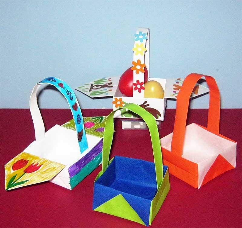Korb aus papier basteln