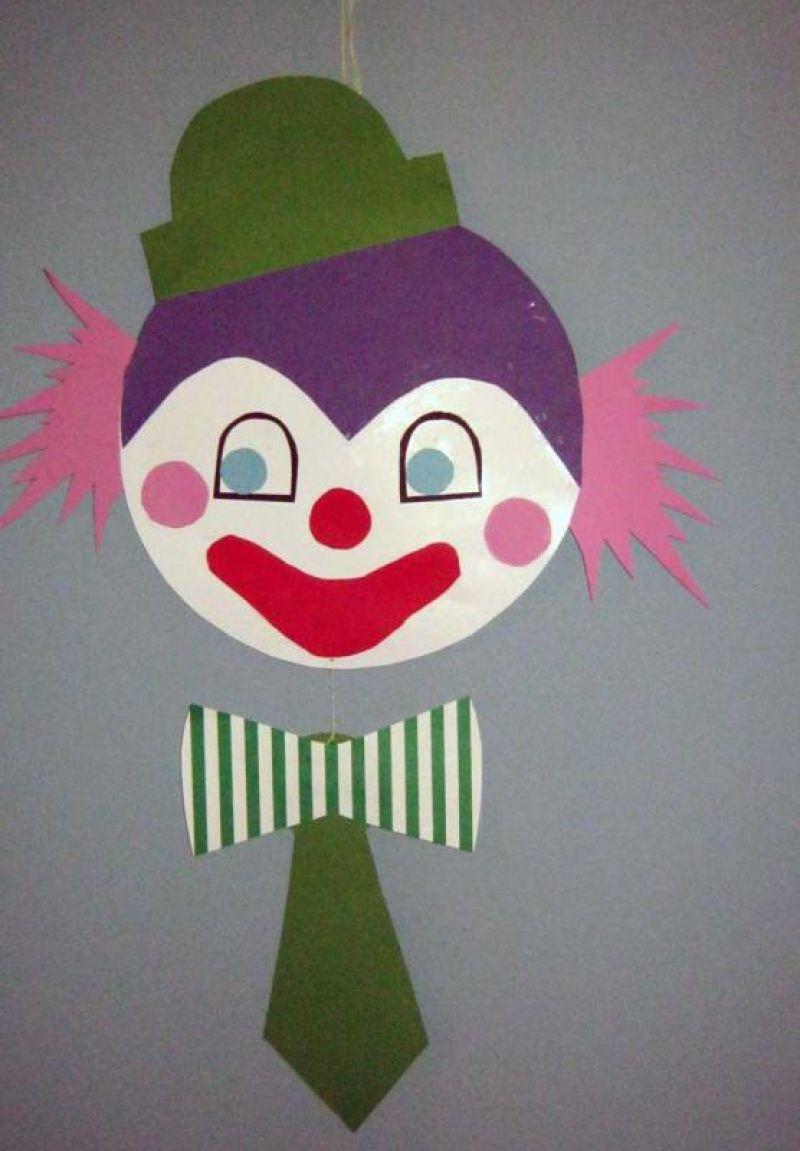 einfacher clown basteln vorlage kostenlos