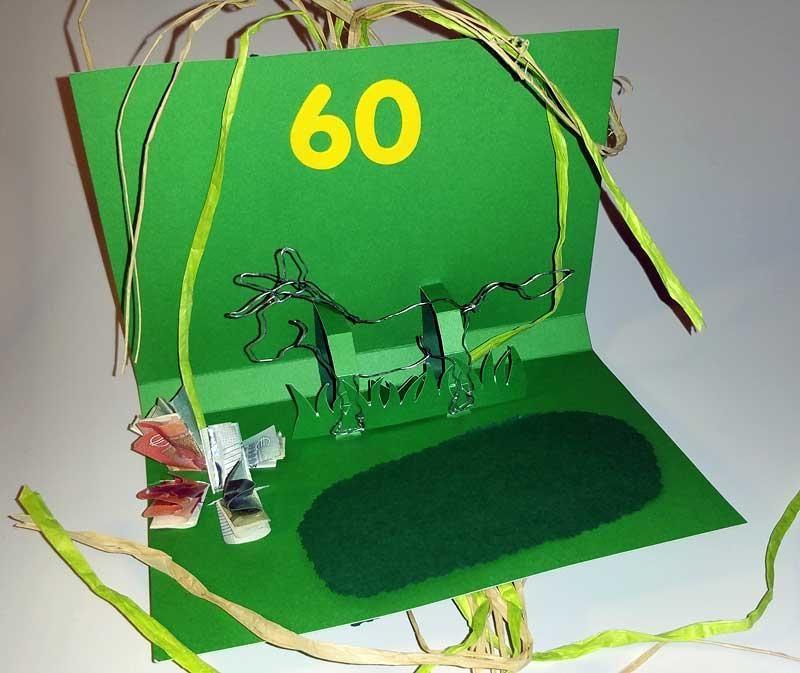 Geldgeschenke basteln für Fahrrad Kauf: Geschenkkarte mit ...